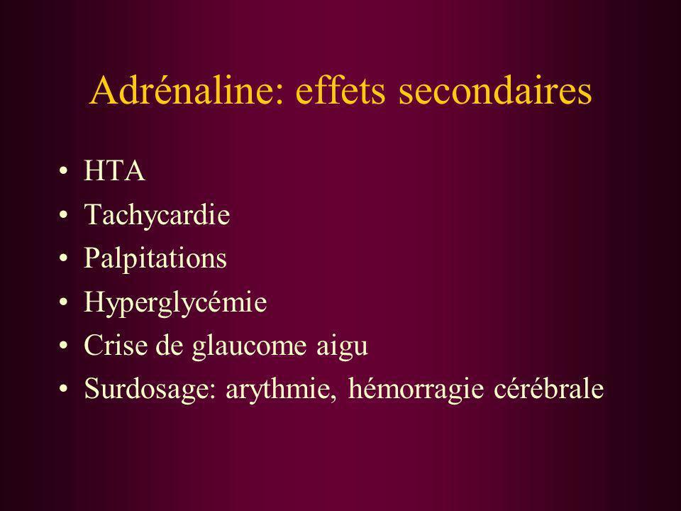 Adrénaline: effets secondaires