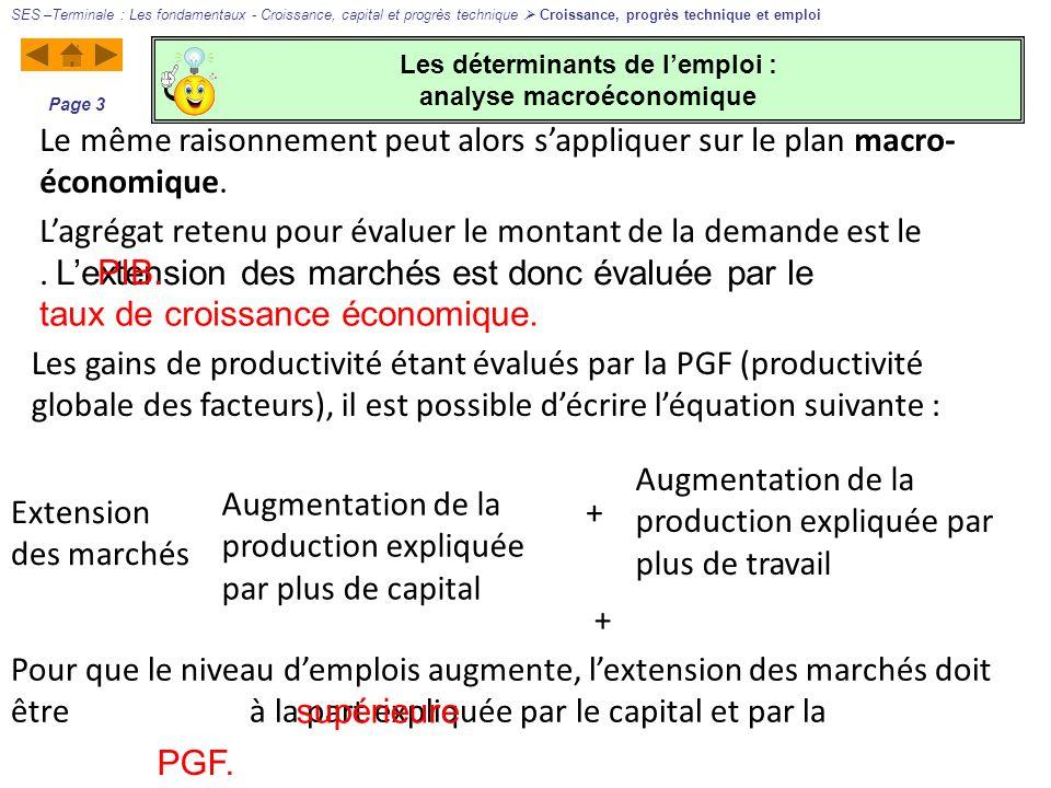 Les déterminants de l'emploi : analyse macroéconomique