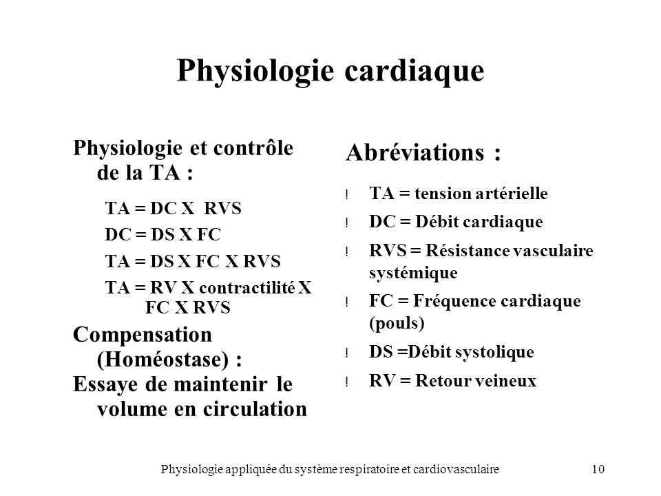 Physiologie cardiaque