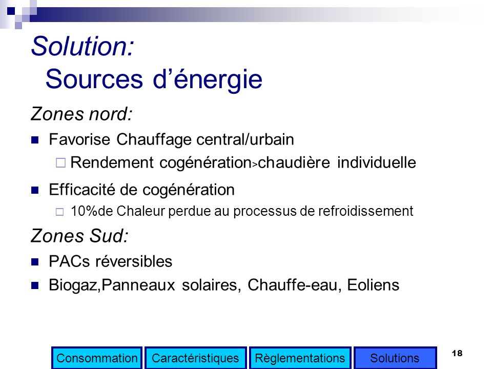Solution: Sources d'énergie