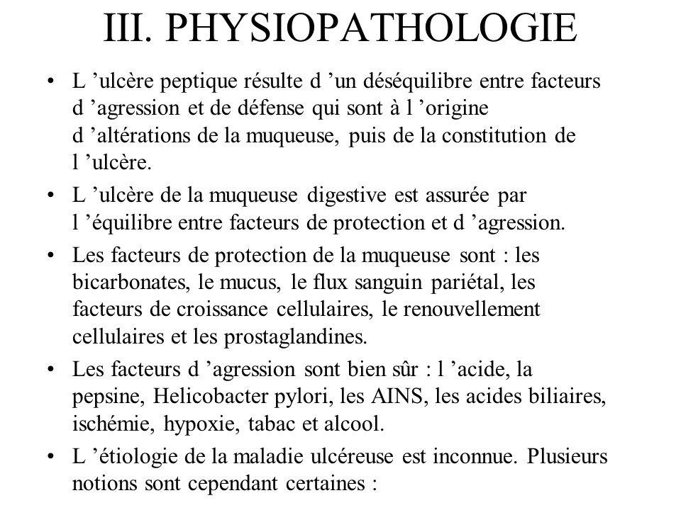 III. PHYSIOPATHOLOGIE