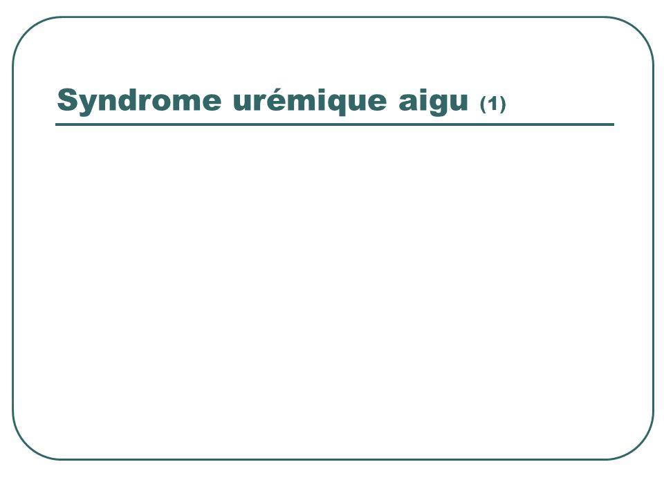 Syndrome urémique aigu (1)