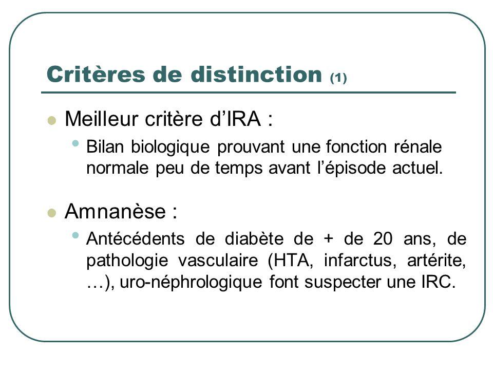 Critères de distinction (1)