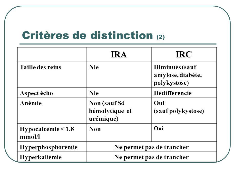 Critères de distinction (2)