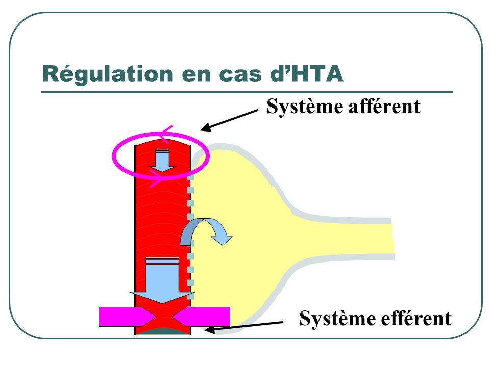 Régulation en cas d'HTA