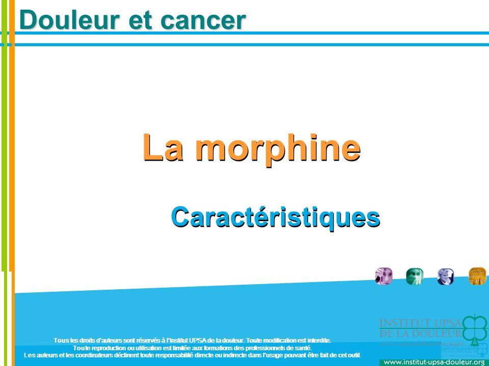 La morphine Caractéristiques