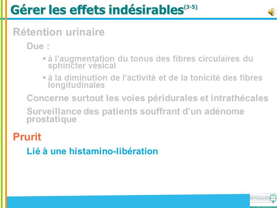 Gérer les effets indésirables(3-5)