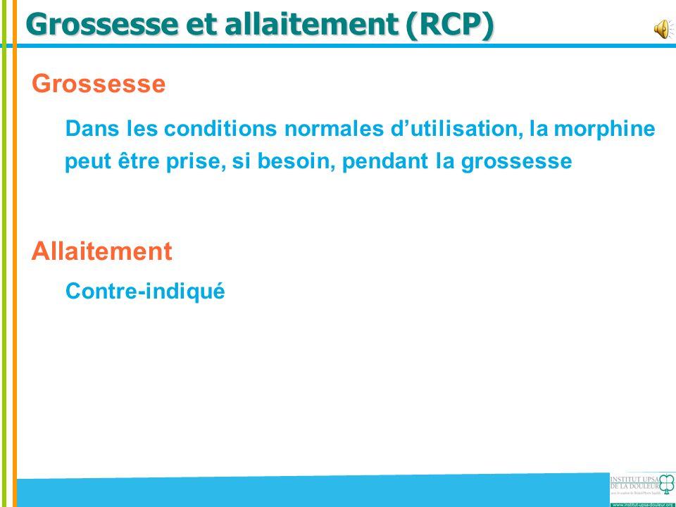 Grossesse et allaitement (RCP)