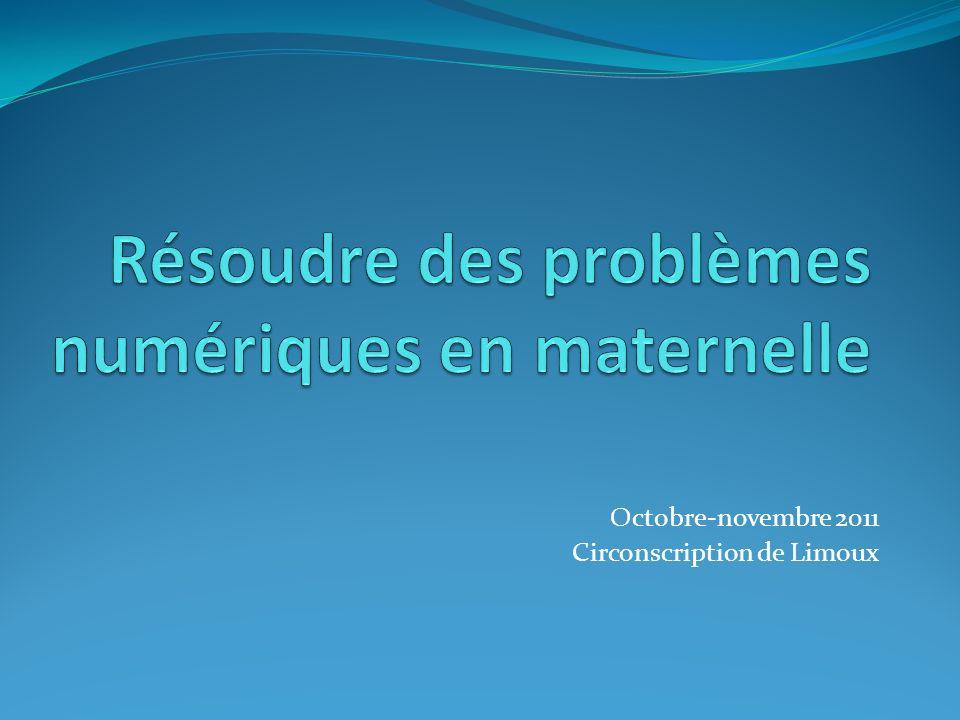 Résoudre des problèmes numériques en maternelle