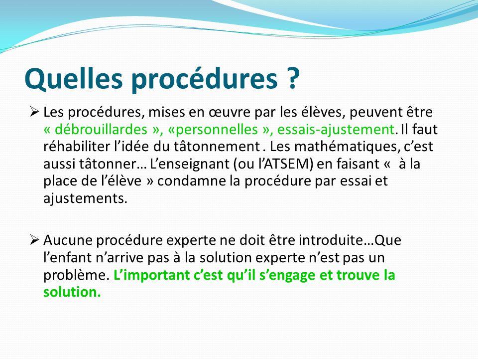 Quelles procédures