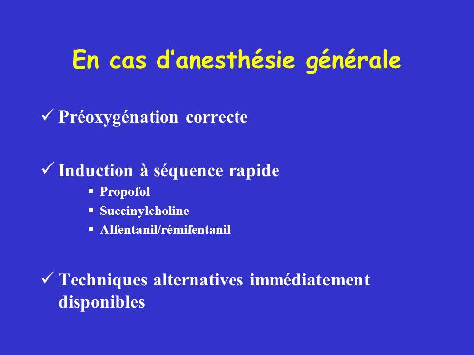 En cas d'anesthésie générale