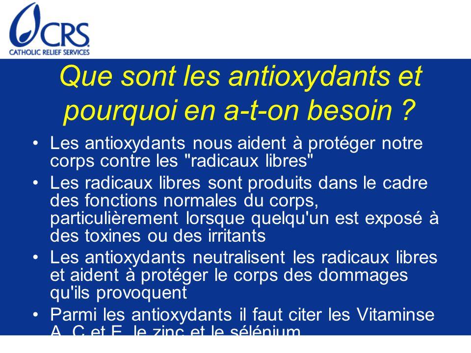 Que sont les antioxydants et pourquoi en a-t-on besoin