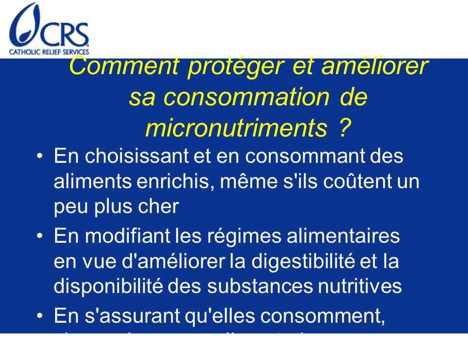 Comment protéger et améliorer sa consommation de micronutriments