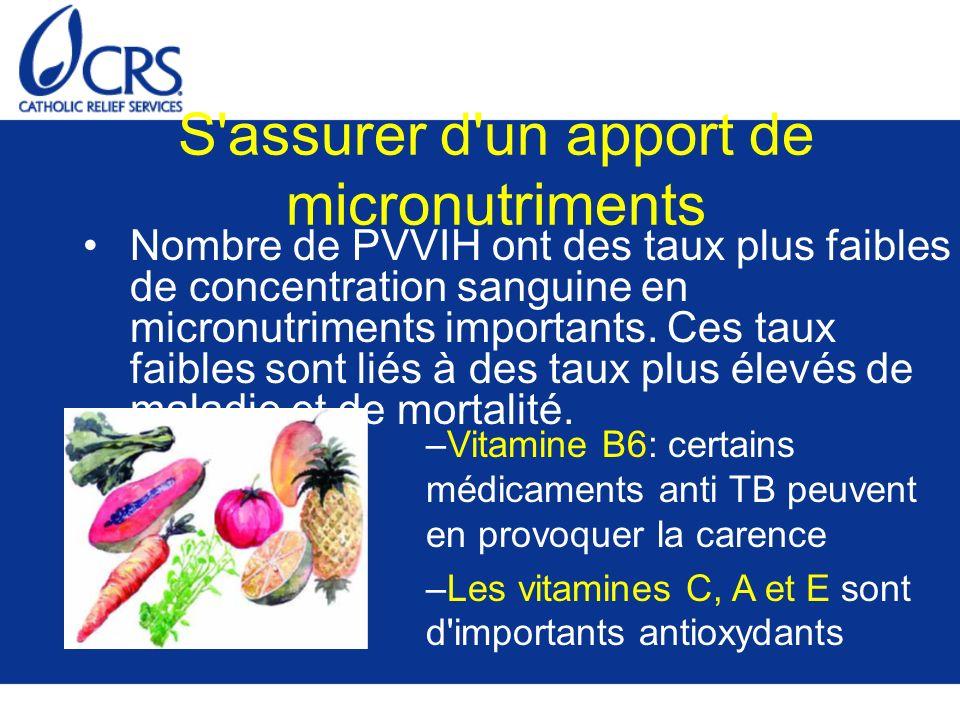 S assurer d un apport de micronutriments