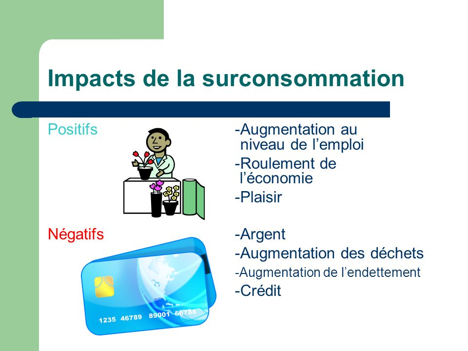 Impacts de la surconsommation