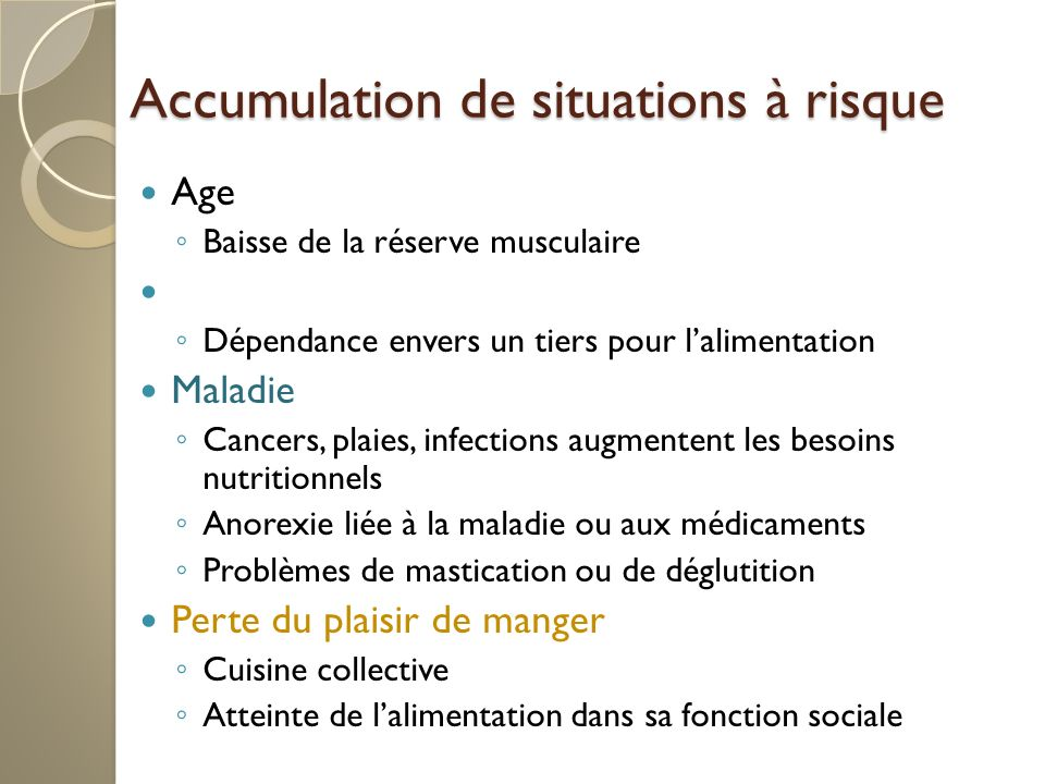 Accumulation de situations à risque