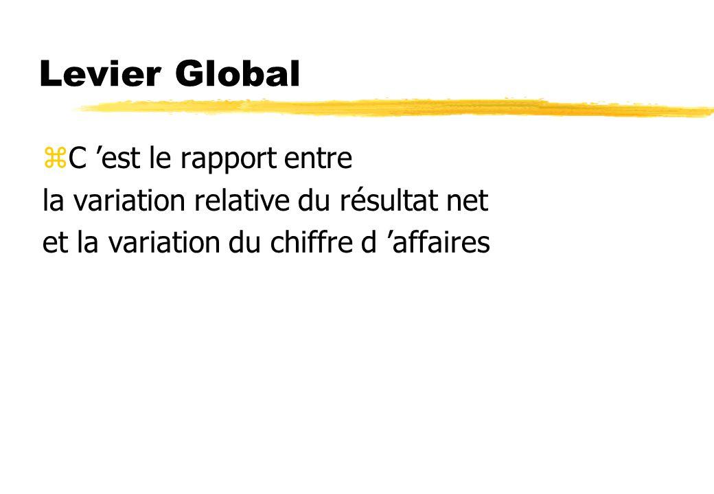 Levier Global C 'est le rapport entre