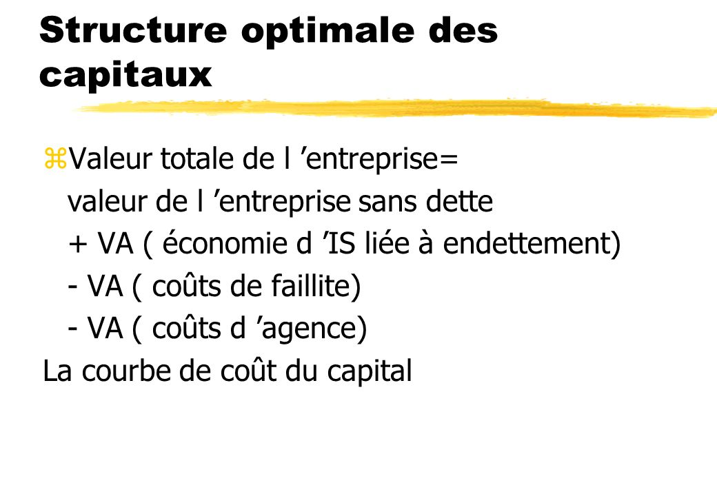 Structure optimale des capitaux