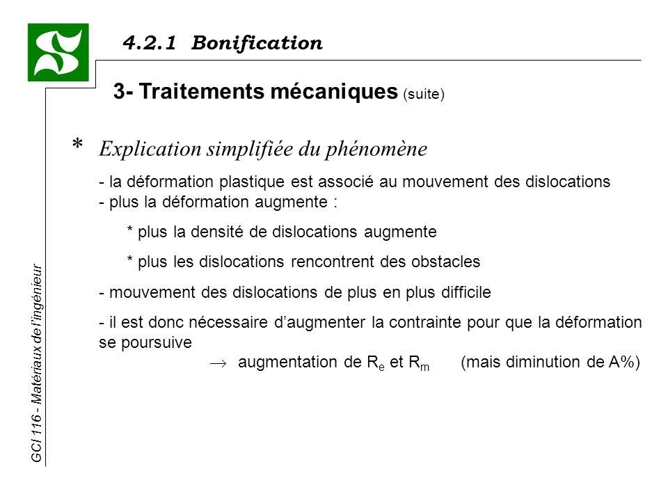 3- Traitements mécaniques (suite)
