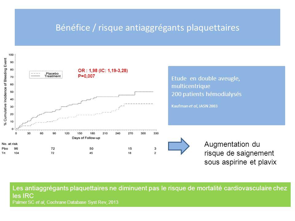 Bénéfice / risque antiaggrégants plaquettaires