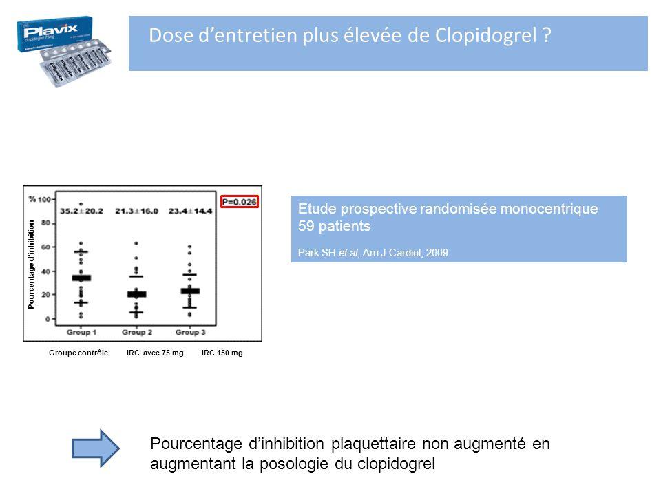 Dose d'entretien plus élevée de Clopidogrel