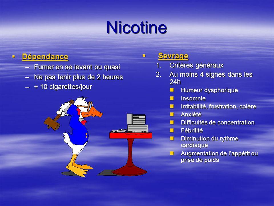 Nicotine Dépendance Sevrage Fumer en se levant ou quasi
