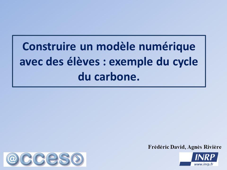 Construire un modèle numérique avec des élèves : exemple du cycle du carbone.