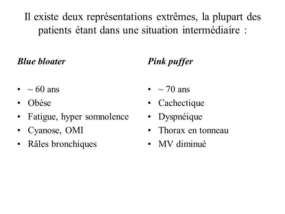 Il existe deux représentations extrêmes, la plupart des patients étant dans une situation intermédiaire :
