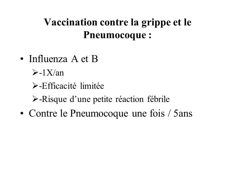 Vaccination contre la grippe et le Pneumocoque :