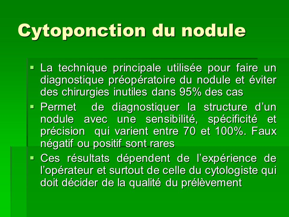 Cytoponction du nodule