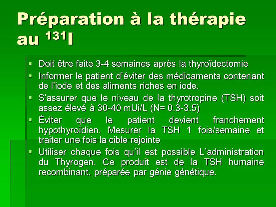 Préparation à la thérapie au 131I