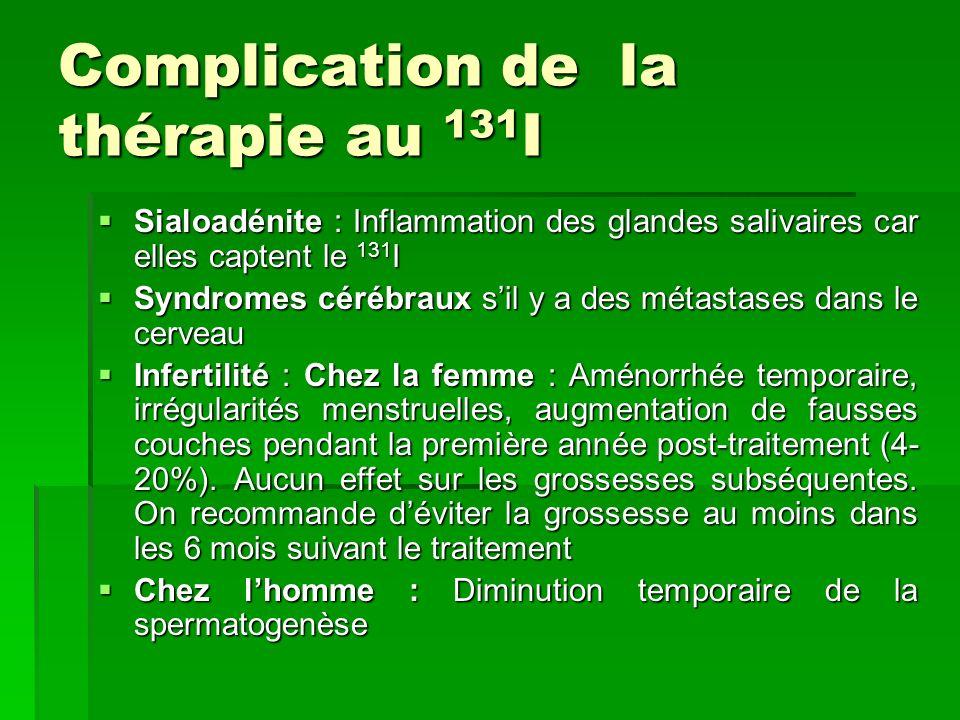 Complication de la thérapie au 131I
