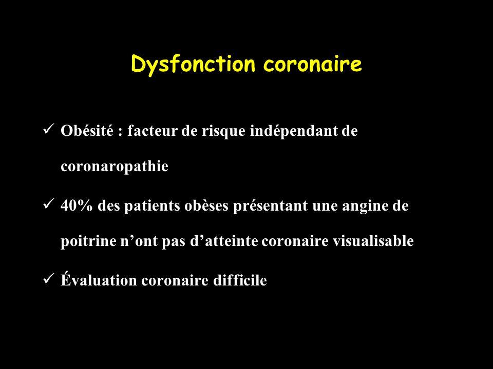 Dysfonction coronaire