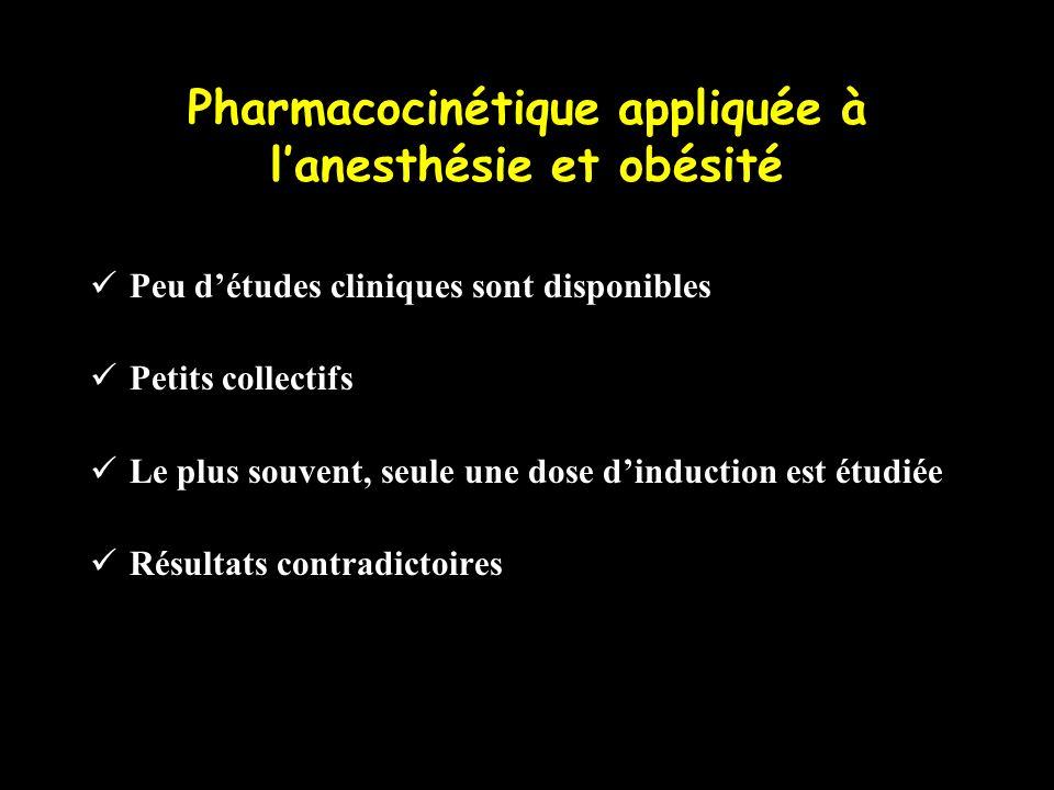 Pharmacocinétique appliquée à l'anesthésie et obésité