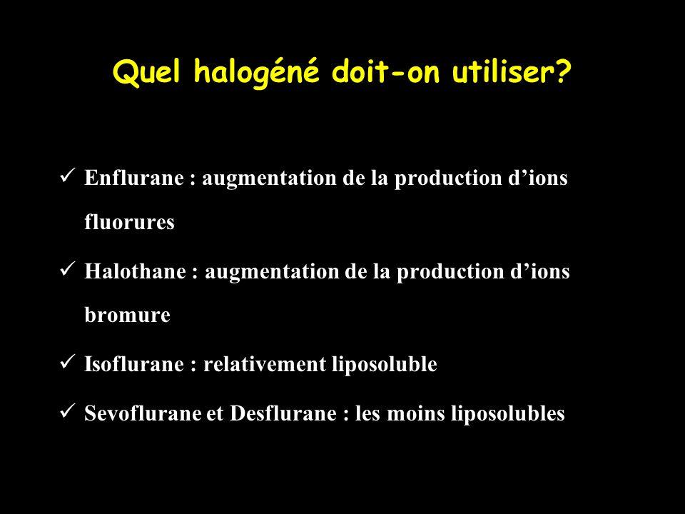 Quel halogéné doit-on utiliser