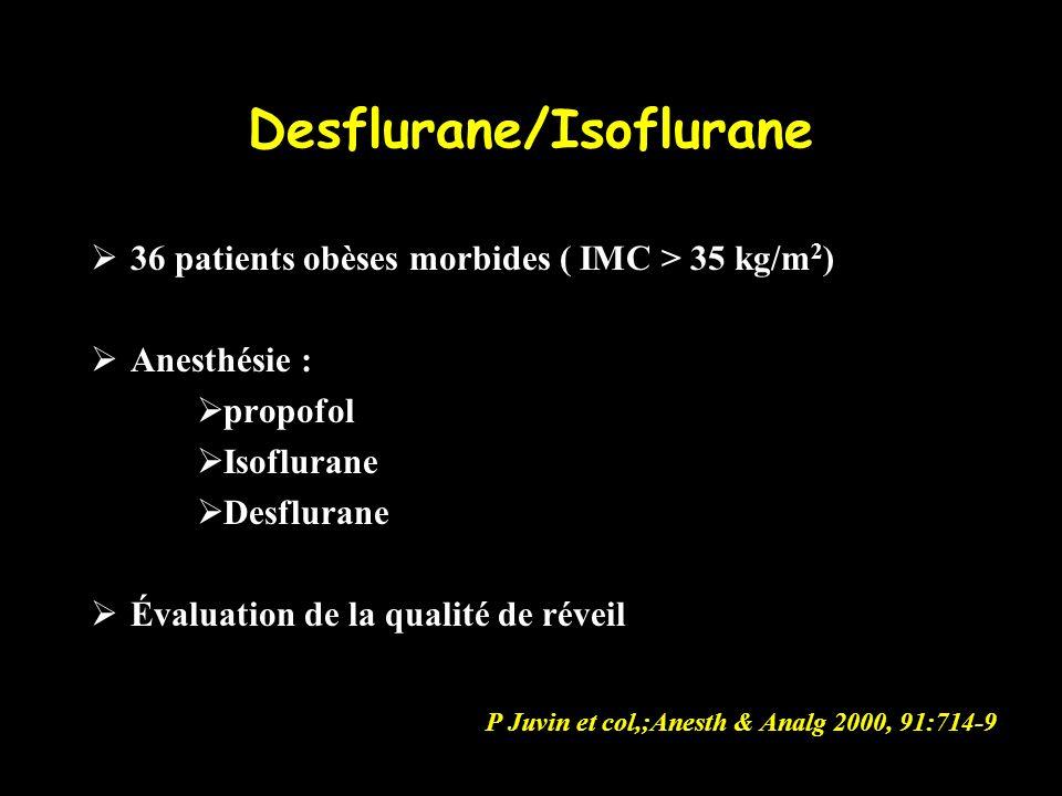 Desflurane/Isoflurane
