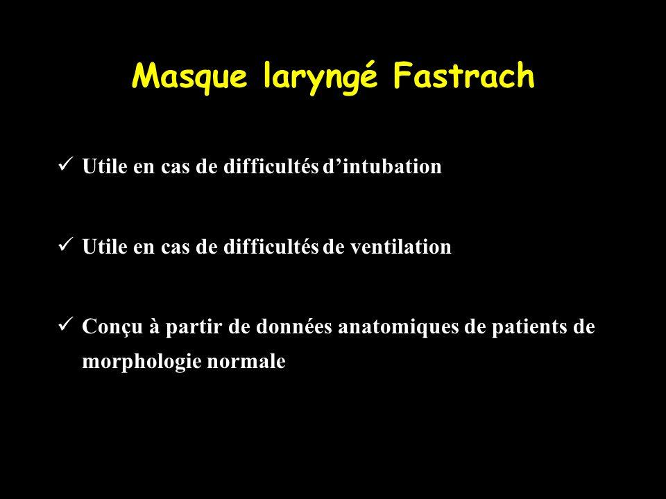 Masque laryngé Fastrach