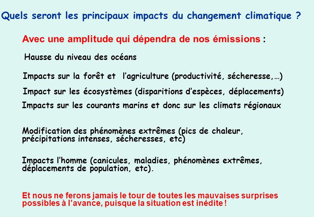 Quels seront les principaux impacts du changement climatique