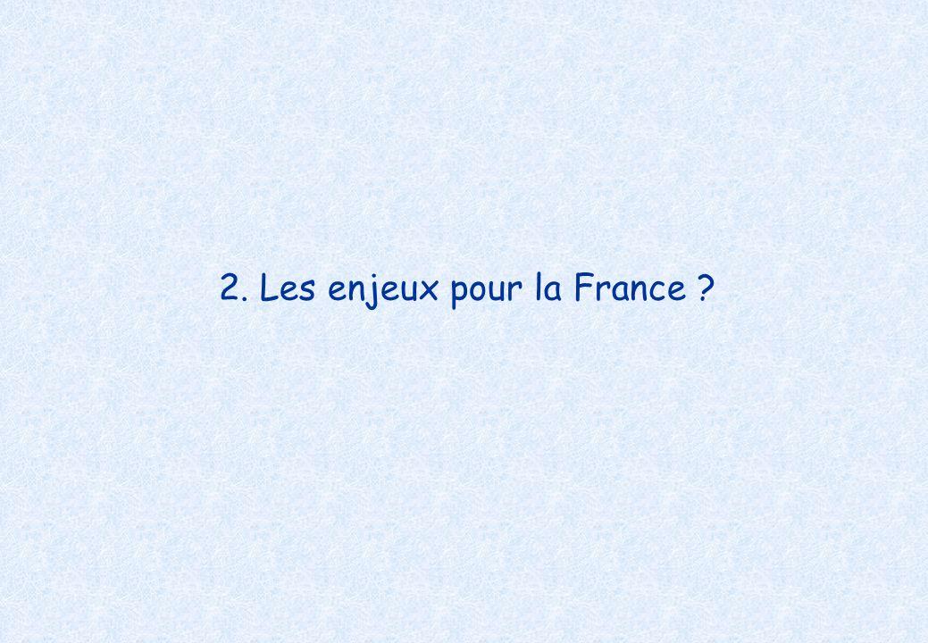 2. Les enjeux pour la France