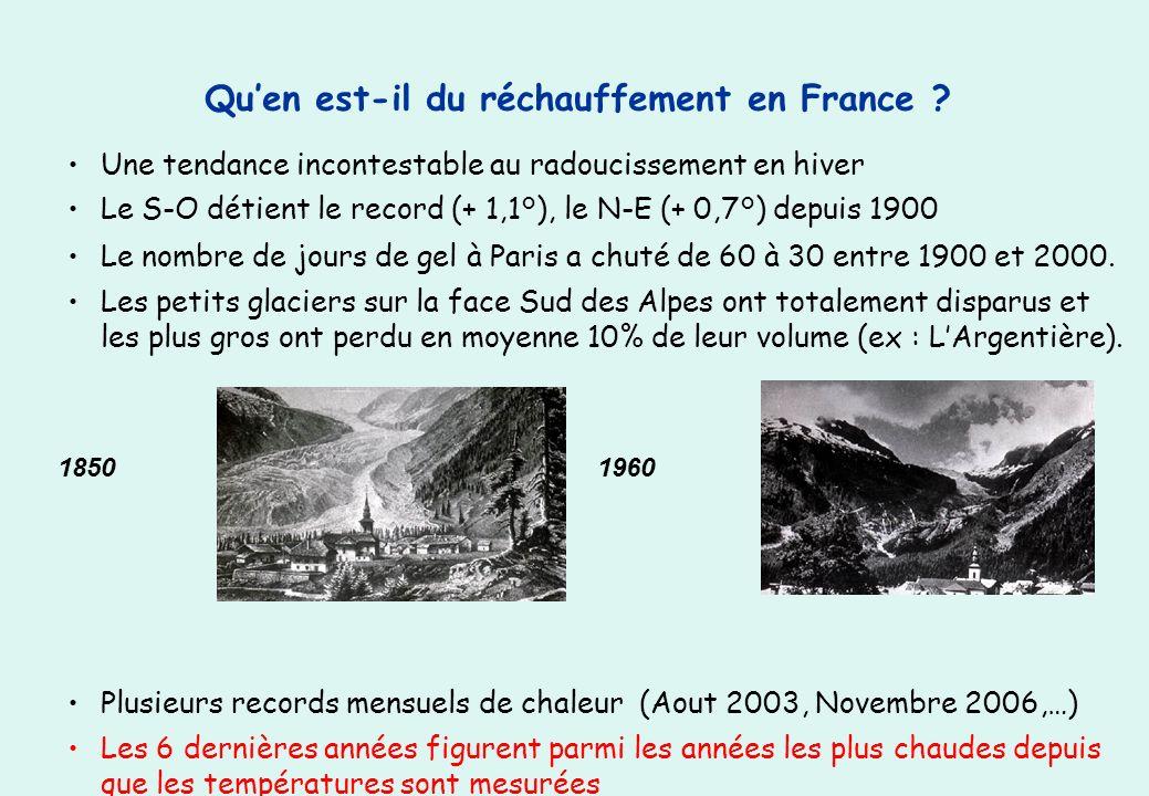 Qu'en est-il du réchauffement en France