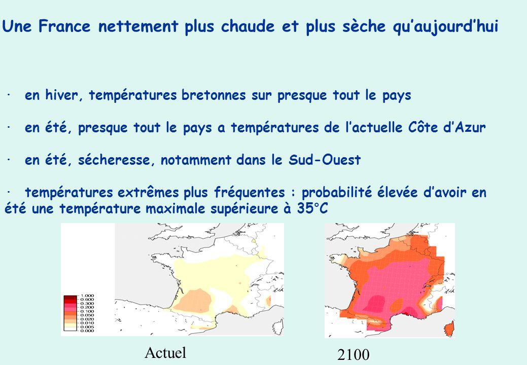 Une France nettement plus chaude et plus sèche qu'aujourd'hui