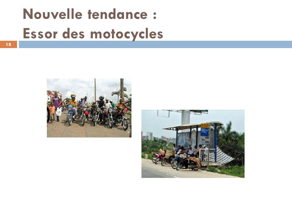 Nouvelle tendance : Essor des motocycles