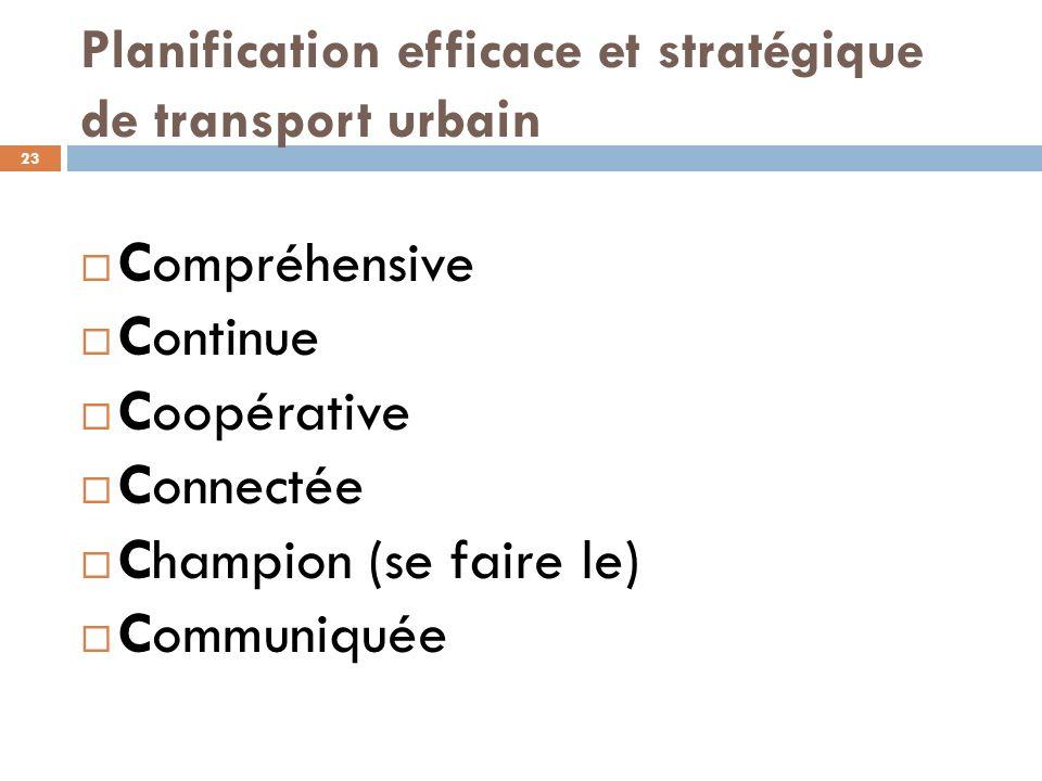 Planification efficace et stratégique de transport urbain