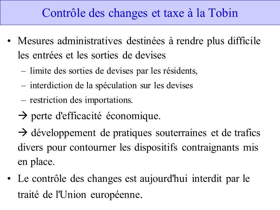 Contrôle des changes et taxe à la Tobin