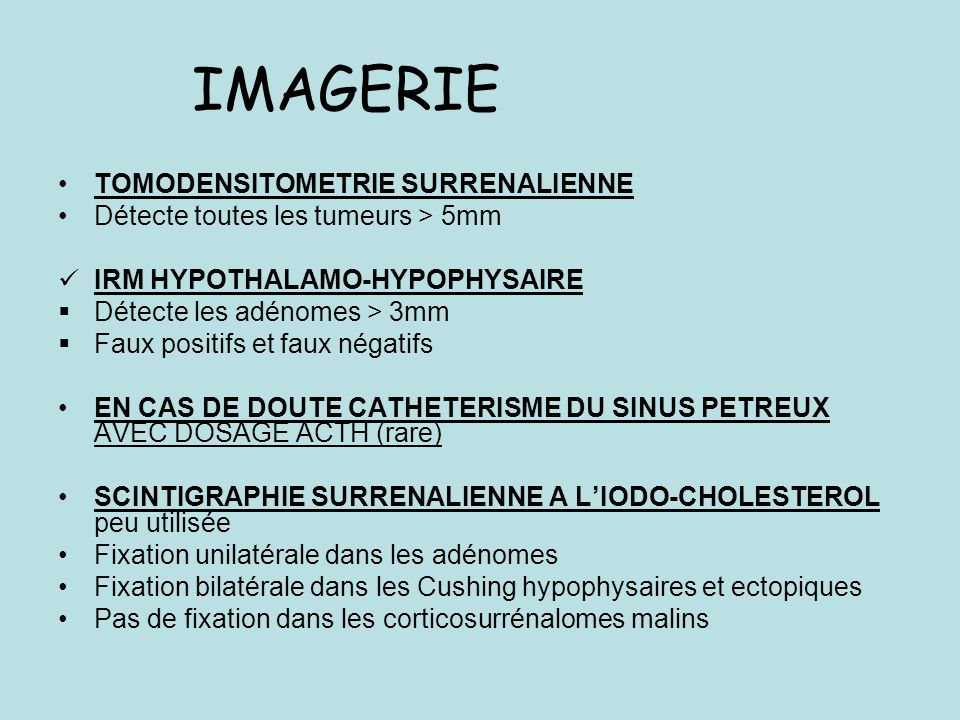 IMAGERIE TOMODENSITOMETRIE SURRENALIENNE