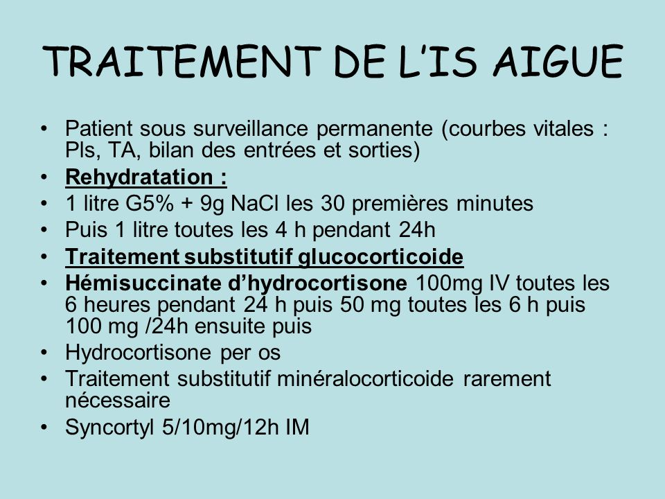 TRAITEMENT DE L'IS AIGUE