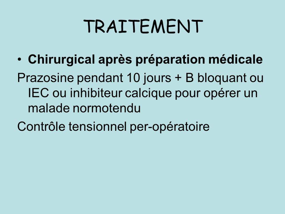 TRAITEMENT Chirurgical après préparation médicale