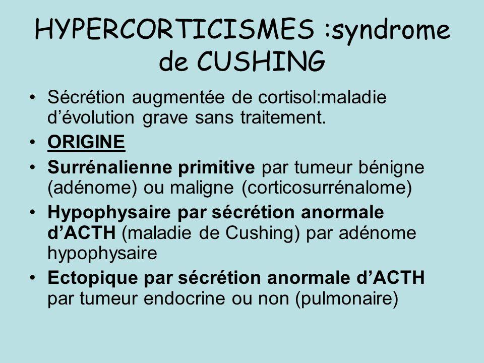 HYPERCORTICISMES :syndrome de CUSHING