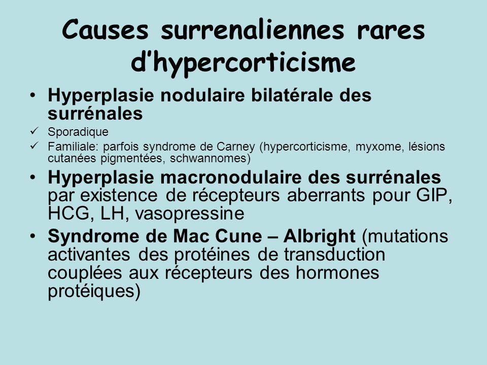 Causes surrenaliennes rares d'hypercorticisme