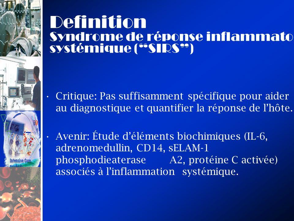 Definition Syndrome de réponse inflammatoire systémique ( SIRS )